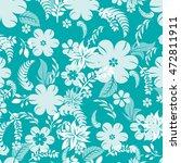 seamless flowers pattern | Shutterstock .eps vector #472811911