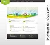 website template  with colorful ...