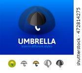 umbrella color icon  vector...