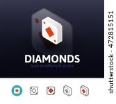 diamonds color icon  vector...