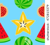 colorful fruits seamless... | Shutterstock .eps vector #472815379