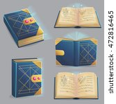 ancient magic book with alchemy ...