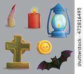 a collection of items spooky... | Shutterstock .eps vector #472816495