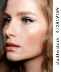beauty woman face portrait....   Shutterstock . vector #472819189