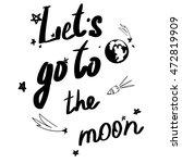 moon vector trend words print...