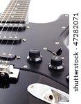 black electric guitar on white...   Shutterstock . vector #47282071