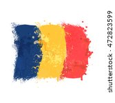 brush painted abstract flag of... | Shutterstock .eps vector #472823599