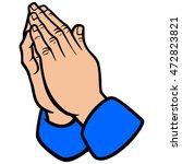 praying hands | Shutterstock .eps vector #472823821