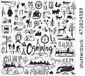 camping doodles | Shutterstock .eps vector #472824589
