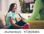 girl teenager is happy after a...   Shutterstock . vector #472828381