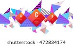 abstract background. geometric... | Shutterstock .eps vector #472834174