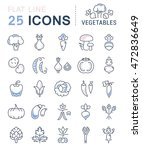 set vector line icons in flat... | Shutterstock .eps vector #472836649