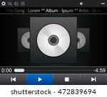music player interface. mp3...