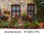 flower filled streets of the... | Shutterstock . vector #472841791