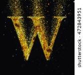 gold letter w   Shutterstock . vector #472843951