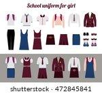 school uniform for girls kit... | Shutterstock .eps vector #472845841