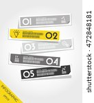 yellow infographic flat... | Shutterstock .eps vector #472848181