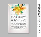 wedding invitation template...   Shutterstock .eps vector #472858264