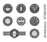 set of vintage coffee logos ... | Shutterstock . vector #472862209
