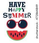 have happy summer poster | Shutterstock . vector #472864849