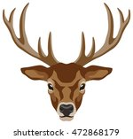illustration of a deer head... | Shutterstock .eps vector #472868179
