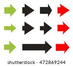 set color and black arrows and... | Shutterstock .eps vector #472869244