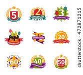 birthday badge banner design... | Shutterstock .eps vector #472871215