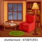 vector illustration of a cozy... | Shutterstock .eps vector #472871551