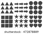 design elements shapes icon set.... | Shutterstock .eps vector #472878889