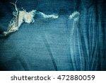 vintage blue jeans denim fabric ... | Shutterstock . vector #472880059