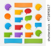 set realistic colorful paper... | Shutterstock . vector #472890817