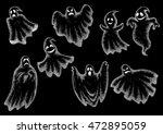 halloween funny comic ghosts... | Shutterstock .eps vector #472895059