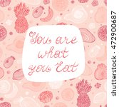 """poster lettering """"you are what... 