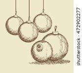 sphere merry christmas... | Shutterstock .eps vector #472902277