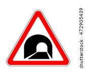 russia tunnel ahead sign | Shutterstock .eps vector #472905439