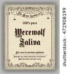 halloween apothecary label in... | Shutterstock . vector #472908199
