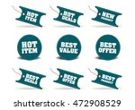 various discount tags   labels | Shutterstock .eps vector #472908529