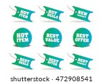 various discount tags   labels | Shutterstock .eps vector #472908541