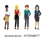 manga elegant woman poses set 1 | Shutterstock .eps vector #472908877
