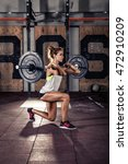 beautiful sporty woman doing...   Shutterstock . vector #472910209