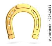 gold horseshoe  3d illustration | Shutterstock . vector #472913851