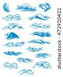 nautical or marine themed set... | Shutterstock . vector #472920421