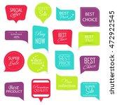 modern  sale stickers... | Shutterstock .eps vector #472922545