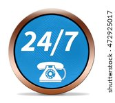 24 7 support phone icon.... | Shutterstock . vector #472925017
