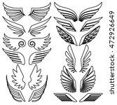 wings set. vector illustration   Shutterstock .eps vector #472926649