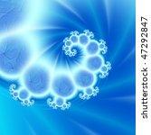 Blue Cracked Spiral