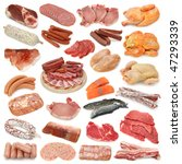 meat collection isolated on... | Shutterstock . vector #47293339