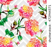 watercolor seamless pattern... | Shutterstock . vector #472944571