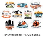 set of halloween party and... | Shutterstock . vector #472951561