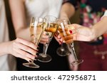 hands holding the glasses of... | Shutterstock . vector #472956871